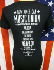 NEW AMERICAN MUSIC UNION juniors tee Dylan med T shirt Raconteurs Black Keys '08