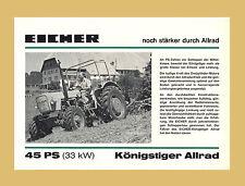 Eicher Königstiger 45 PS Traktor Schlepper Allrad Original 1974