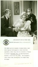 EVA GABOR RICHARD BROWN CHARLES COLLINGWOOD PERSON TO PERSON 1960 CBS TV PHOTO
