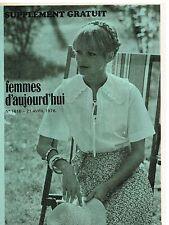 """Patron de Couture """"Femmes d'aujourd'hui"""" N°1616 Une Blouse Romantique T38 et 42"""