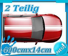 Tuning Auto RallyStreifen zum Carstyling Viperstreifen Schwarz matt 400x10 cm