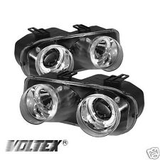 1994-1997 ACURA INTEGRA HALO LIGHT PROJECTOR BAR HEADLIGHTS CHROME LIGHTBAR
