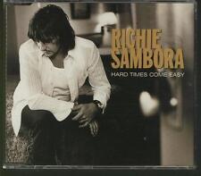 RICHIE SAMBORA Hard Times Come Easy 4 TRACK CD SINGLE W 3 live tracks  BON JOVI