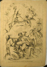 Eau forte du Comte de Caylus, XVIIIe, Malades priants