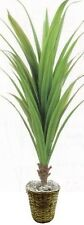"54"" ARTIFICIAL PLANT IN OUTDOOR PALM TREE TOPIARY IN BASKET BUSH PATIO YUCCA IVY"