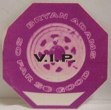 BRYAN ADAMS - ORIGINAL CONCERT TOUR CLOTH BACKSTAGE PASS ***LAST ONE***