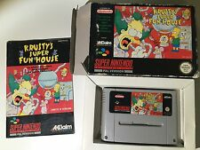 Super Nintendo SNES Krusty's Super Fun House (Scatola e manuale in italiano)