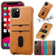 Slim Leather Case For iPhone11 Pro XS Max XR 8 7 6 Credit Card Holder Back Cover