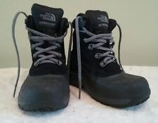 The North Face  Boys Garcons Black Waterproof Insulated Winter Snow Boots  Sz 13