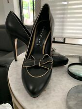 CASADEI BLACK LEATHER PUMPS ITALY  New  $1100