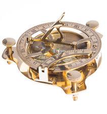 Cadran solaire avec boussole doré 11,5cm west london, steampunk vintage