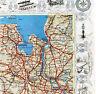 Bremen BHV Oldenburg WHV 1935 orig. Luftbild-Teilkarte - Reichsautobahn geplant
