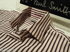 "PAUL SMITH Mens Shirt 🌍 Size 15.5"" (CHEST 40"") 🌏RRP £95+🌏 SUPERBLY STRIPED"