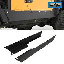 97-06 Jeep Wrangler TJ Rocker Panel Guard Rock Sliders Black Textured Armor