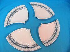 ANTIQUE VILLROY & BOCH RADE BLUE & WHITE 4 PART CENTERPIECE PLATE SET