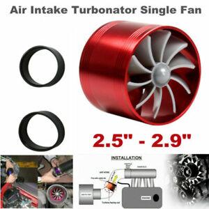 Air Intake Turbonator Single Fan Turbine Gas Fuel Saver Turbo Supercharger Set