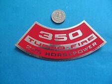 "** CHEVY Corvette Air Cleaner STICKER DECAL "" 350 Turbo-Fire 225 HORSEPOWER **"