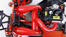 RC TWIN Exhaust Pipe Red for Losi 5ive T