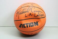 L.A. Lakers Michael Cooper Signed Action Autographed Basketball (LOC 43B)