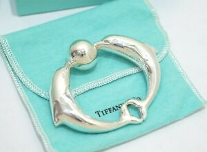 Rare! Tiffany & Co. Sterling Silver Dolphin Teether Baby Rattle