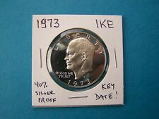 "US COINS 1973 YEAR ""S"" SILVER ""EISENHOWER"" IKE DOLLAR NICE COIN."