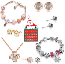Christmas Advent Calendar with 25 Jewellery items including Earrings, Necklaces