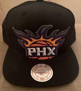 "Phoenix SUNS MITCHELL & NESS SnapBack BLACK Hat ""NEWNEWNEWNEWNEWNEWNEWNEWNEWNEW"""