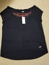 NWT Hollister Easy Fit Bay Shore Top Tee Navy Small