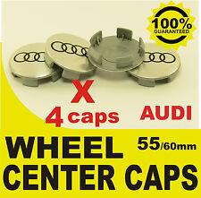 tapas llantas  ruedas de tu coche wheel center caps AUDI 55mm 60mm 4x