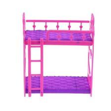 Etagenbett Möbel Bett Set -Puppen Puppenhaus Zubehör Spielzeug X9P1