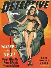 Magazine detective story wizard sex police cas fine art print poster BB8073