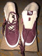 d7b83e7293 DS NEW Vans Sk8-Hi Reissue Lite Sherpa Burgundy True White Sz M 9