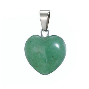 Halskette Herz Aventurin Liebe Edelstein grün 1,6x1,6cm Schmuck m Kette Geschenk