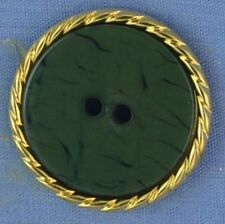25mm Green / Gold 2 Hole Button