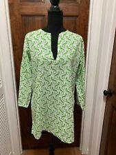 Barbara Gerwit Womans Medium Tunic with green lizards