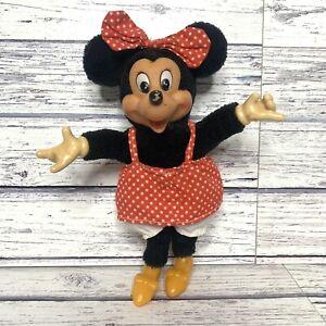 "Disney Minnie Mouse Applause Doll Plush 8"" Vintage"