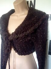 Zone Bleue French Wool Lagenlook Layering Bohemian Warm Shrug RRP £130 Medium