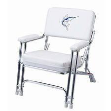 Garelick 48106 Mariner Folding Deck Chair W/ Sewn Cushions
