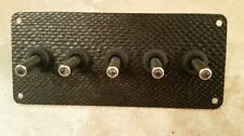 Mamba Black WRAP CARBON FIBER PANEL w/ LED toggle switches - BLUE