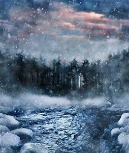 "35"" Fabric Panel - Hoffman Digital Call of the Wild - Winter River Blue"