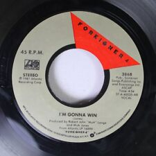 Rock 45 Foreigner - I'M Gonna Win / Waiting For A Girl Like You On Atlantic