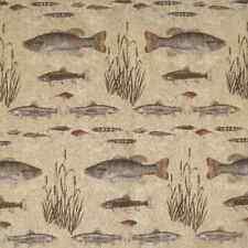 Halifax Stone Fishing Cabin Upholstery Fabric Log Furniture