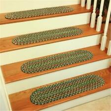 Rhody Rug KA63A008X028-13 Katie Multi Braided Stair Tread Sage - Set Of 13
