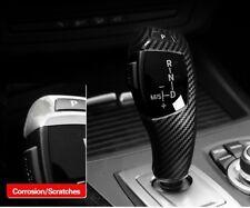 ABS Carbon Fiber Gear Shift knob Cover Trim For BMW E60 E70 E71 5 Series X5 X6