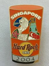 Vintage 2004 HARD ROCK CAFE SINGAPORE Double Clasp Lapel Pin