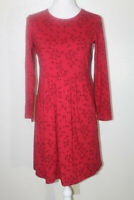 NWOT J JILL WEAREVER COLLECTION XS PETITE Red/Black Printed Stretch Dress