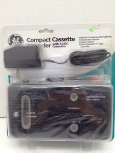 General Electric GE Compact Cassette Recorder 3-5301S (Black) Vintage New