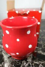 Temptations By Tara Red White Polka Dot 14 0z mug