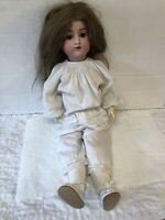 "Antique 24"" Bisque Head Dolly Face Doll AB 1362 Alt Beck Gottschalck Germany"