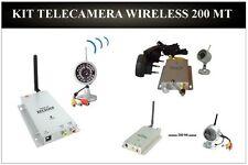 Telecamera Infrarossi CON Ricevente Wireless Kit Completo VIDEOSORVEGLIANZA